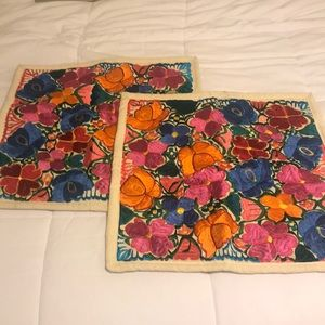 Mexican Embroidered Pillowcase Covers